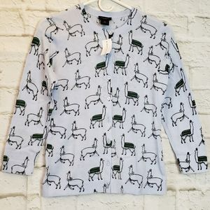 Ann Taylor Factory NWT Llamas Sweater XS
